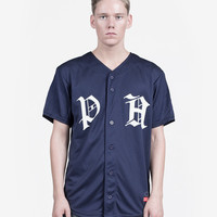 Old Timers Light Mesh Baseball Jersey in Navy