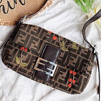 F Fendi Fashion New More Letter Canvas Shopping Leisure Shoulder Bag Women Crossbody Bag