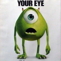 Monsters Inc Mike 27x40 Movie Poster Disney Pixar