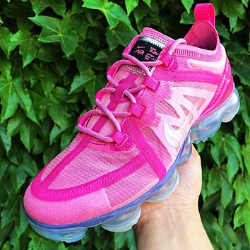 NIKE AIR VAPORMAX 2019 Women Casual Sport Running Shoes Sneakers Rose Red