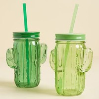 Succulent Sips Glass Travel Cup Set