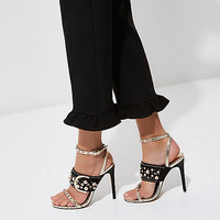Gold studded buckle barely there sandals - Sandals - Shoes & Boots - women