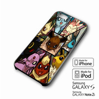 Pokemon Eevee Collage iPhone case 4/4s, 5S, 5C, 6, 6 +, Samsung Galaxy case S3, S4, S5, Galaxy Note Case 2,3,4, iPod Touch case 4th, 5th, HTC One Case M7/M8