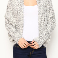 LUXE Cream Cable Knit Bolero Sweater