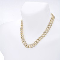 """Jewelry Kay style Men's Fashion Hip Hop Heavy Iced Out 15 mm CZ Stoned 20"""" Cuban Chain Necklace"""