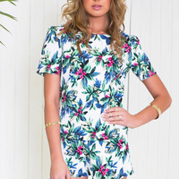 Floral Print Short Sleeve Top and Shorts Set