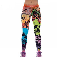 Skull Print Leggings Women New 3D Styles