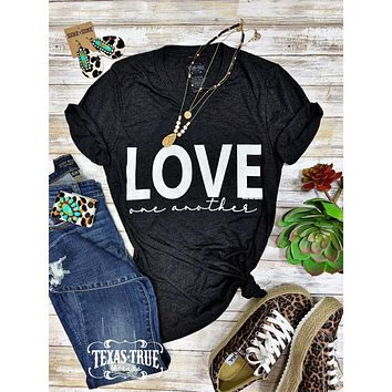 Love One Another Graphic Tee (XS-3XL)