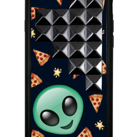 Alien Pizza Black Studded Pyramid iPhone 6/6s Case