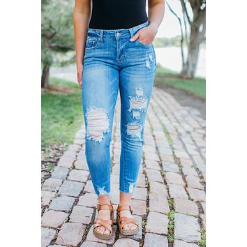Rachel Distressed Skinnies