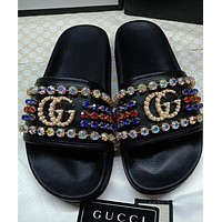 Gucci men and women Fashion Slippers-27