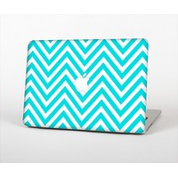 The Trendy Blue Sharp Chevron Pattern Skin Set for the Apple MacBook Air 11""