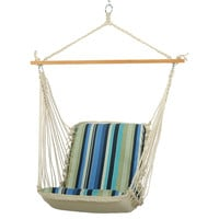 Cushioned Single Swing Chair, Stripe, Outdoor Porch Swings