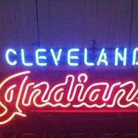 Cleveland Indians MLB Sports Neon Sign Real Neon Light