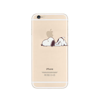 Snoopy Lazy Sleep Nope Apple iPhone 6s 6 Plus 5s 5 Case Transparent Clear Soft Silicone Rubber Printed Cover Case Free Worldwide Shipping
