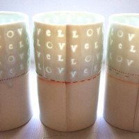 $28.00 love  Translucent porcelain cup by stepanka on Etsy