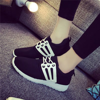 2016 spring Autumn Style breathable women Casual shoes Woman canvas Platform Shoe zapatos mujer chaussure femme ex1