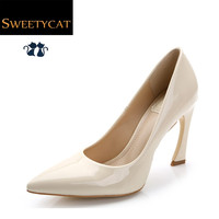 New 2015 13 colors fashion patent leather wedding party women pumps Pointed Toe Ladies shoes woman high heels 10cm L5