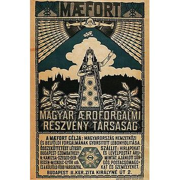 Maefort-Hungary's first airline Vintage Travel Poster Austria-Hungary 24X36