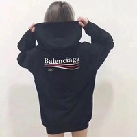 shosouvenir balenciaga casual sport loose hooded top sweater hoodie sweatshirt 3