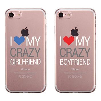 Crazy BF GF Couple Matching Phone Cases Passionate Loving Silly