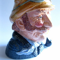 The Motorist Royal Doulton Character Toby Jug Vintage 1972 Large Size FL