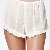 Honey Punch Sheer Ruffled Soft Shorts at PacSun.com