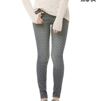 Aeropostale  Womens Dot Ankle Jeggings - Gray, 000 R