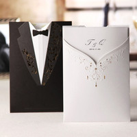12Pcs/Set Bride and Groom Invitation Cards Printable Blank Paper Wedding Invitations convite de casamento = 1929292548