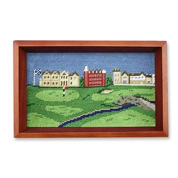 St Andrews Scene Needlepoint Valet Tray by Smathers & Branson