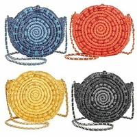 I.n.c. Straw Circle Crossbody, Various Colors