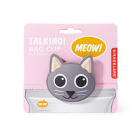 Kikkerland Talking Kitty Bag Clip