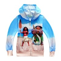 Moana Hoodies Baby Outerwear Kids Clothes Kids Girls Coat Boys Outerwear Children Clothing Child Moana Costume
