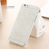 Newest Slim Candy Colorful TPU Soft Glitter Back Protect Skin Phone Cases Cover For Apple iphone 6 Case 4.7 Super Flexible Clear