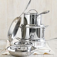 Williams-Sonoma Thermo-Clad™ Stainless-Steel 10-Piece Cookware Set