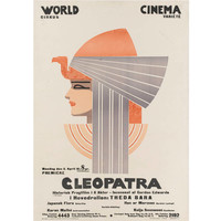 """Cleopatra"" Original Swedish Film Poster, 1917"