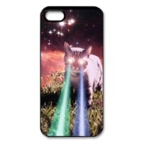 Funny Mega Space Cat Rising Iphone 5/5S Case Hard Back Case for Iphone 5/5S