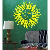 Vinyl Wall Decal Sun Moon House Interior Room Decoration Stickers Unique Gift (ig4472)