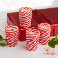 Peppermint Candy Cane Shot Glasses in Gift Box - Set of 4
