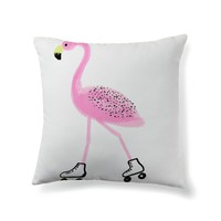 Roller skating flamingo