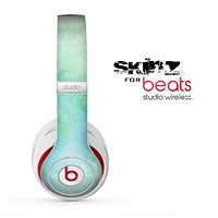 The Subtle Green & Blue Watercolor Skin for the Beats by Dre Studio Wireless Headphones