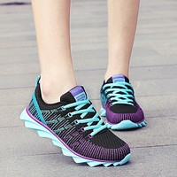 Womens Tennis Shoes Woman Sneakers Breathable Fabric Air Mesh Lace