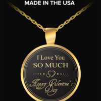 I Love You More - Valentines Day Gifts - Gold Chain Necklace