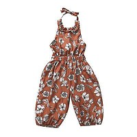 Summer Strap born Kids Baby Girls Floral Backless Romper Jumpsuit Clothes Sun-suit Outfits