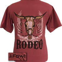 J. Fowl Co. Rodeo Bull Authentic Pigment Smoke Henna Unisex Bright T-Shirt