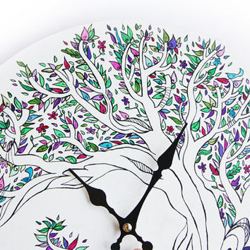 Handpainted Wall Clock - MADE TO ORDER only until the 20th of November