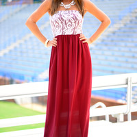 Fair Catch Maxi, Crimson/Ivroy