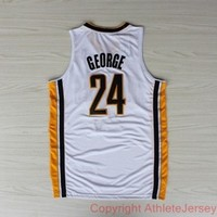 Paul George 24 Indiana Pacers NBA Basketball Jersey Paul George Indiana Pacers