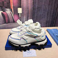Prada Men's Leather Cloudbust Thunder Sneakers Shoes
