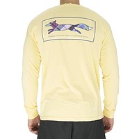 Longshanks Long Sleeve Tee Shirt in Butter by Country Club Prep